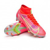 Chaussure de foot Mercurial Superfly 8 Pro FG Bright crimson-Metallic silver-Indigo burst-W