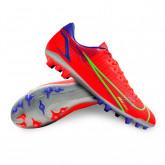 Chaussure de foot Mercurial Vapor 14 Academy AG Bright crimson-Metallic silver-Indigo burst