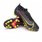 Chaussure de foot Mercurial Vapor 14 Pro AG Black-Cyber-Off noir-Siren red