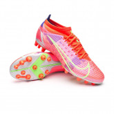 Chaussure de foot Mercurial Vapor 14 Pro AG Bright crimson-Metallic silver-Indigo burst
