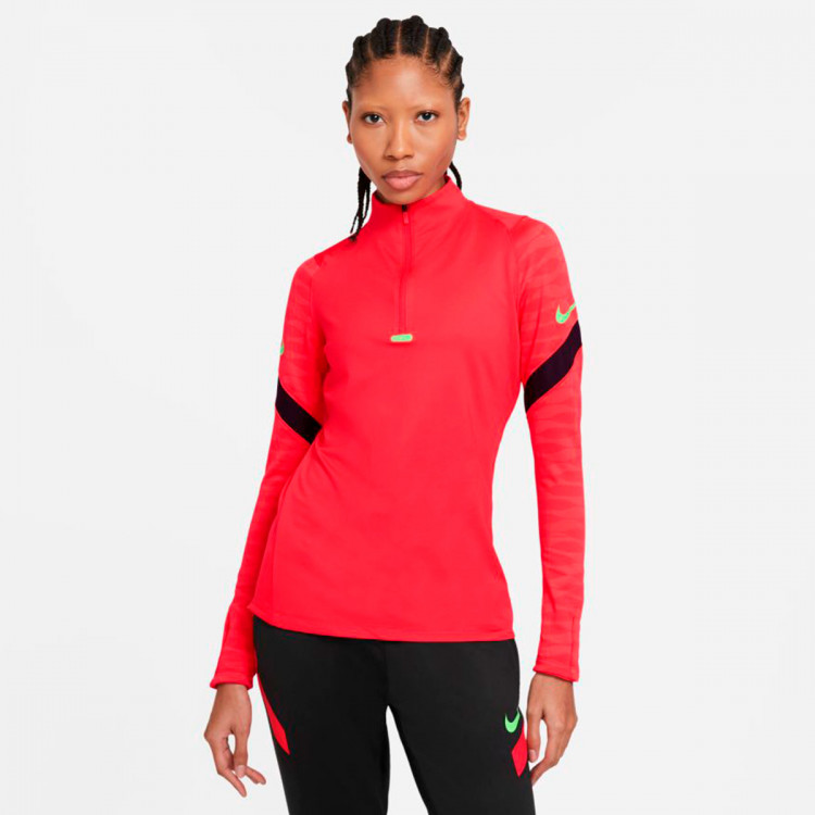 Dri-Fit Strike Drill Top Mujer Siren red-Black-Green strike