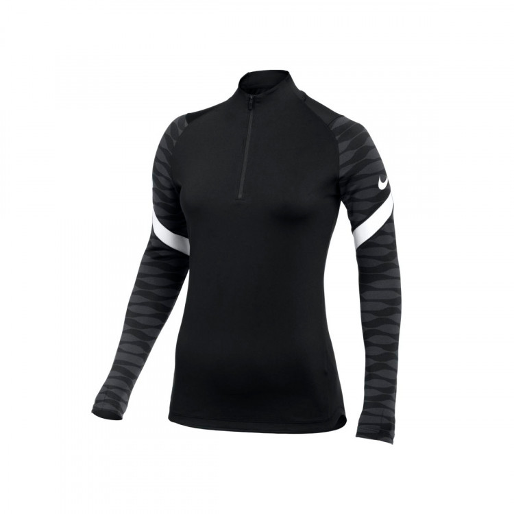 Women Dri-Fit Strike Drill Top Black-Anthracite-White
