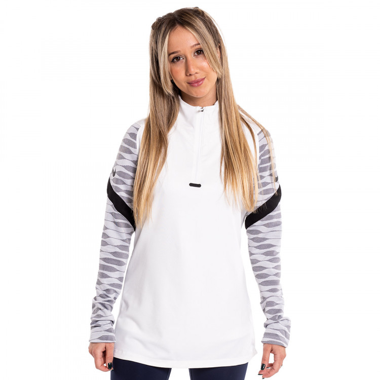 Dri-Fit Strike Drill Top Mujer White-Black
