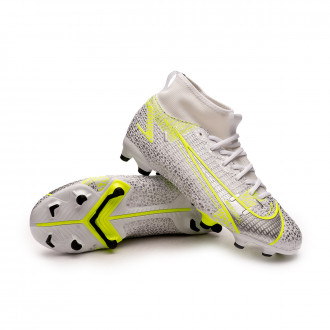 Mercurial Superfly 8 Academy FG/MG Niño White-Black-Metallic silver-Volt