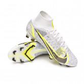 Football Boots Mercurial Superfly 8 Elite FG White-Black-Metallic silver-Volt