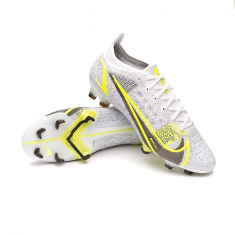 Mercurial Vapor 14 Elite FG White-Black-Metallic silver-Volt