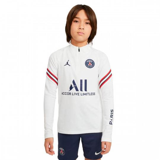 Felpa Nike Paris Saint Germain Strike 2021-2022 Bambino White