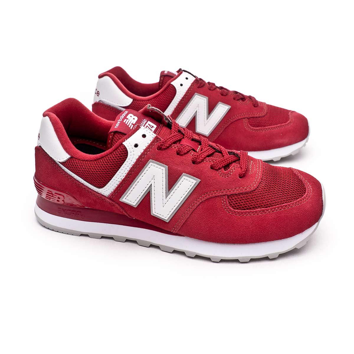 Trainers New Balance Classic Running 574 v2 Scarlet - Fútbol Emotion