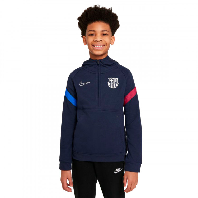 Felpa Nike FC Barcelona Travel 2021-2022 Bambino