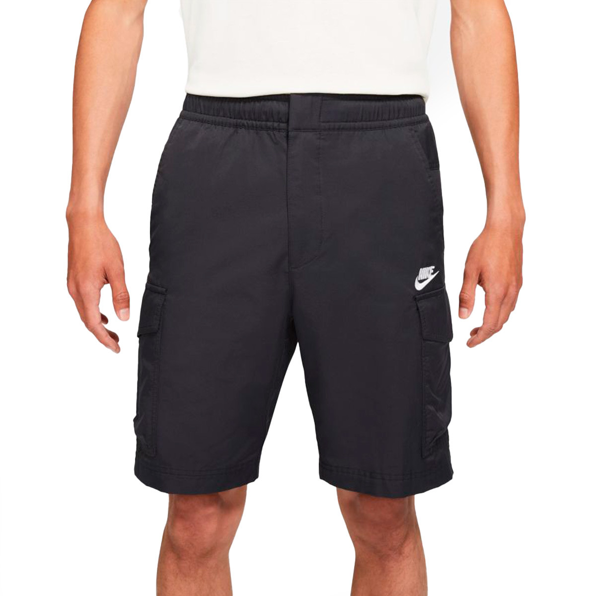 Uhlsport Mens Essential Woven Training Football Shorts with Zip Pockets Black