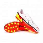 Zapatos de fútbol Phantom GT2 Academy AG Niño White-Bright crimson-Volt-Black