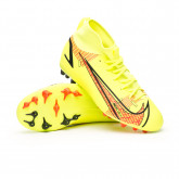 Zapatos de fútbol Mercurial Superfly 8 Academy AG Niño Volt-Bright crimson
