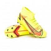 Zapatos de fútbol Mercurial Superfly 8 Academy FG/MG Niño Volt-Bright crimson