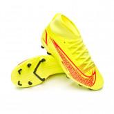 Zapatos de fútbol Mercurial Superfly 8 Club FG/MG Niño Volt-Bright crimson