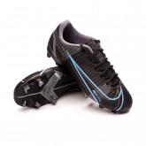 Zapatos de fútbol Mercurial Vapor 14 Academy FG/MG Niño Black-Iron grey-University blue