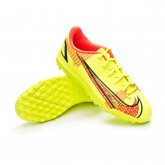 Zapatos de fútbol Mercurial Vapor 14 Academy Turf Niño Volt-Black