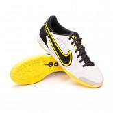 Futsal Boot Tiempo Legend 9 Academy IC White-Smoke grey-Black-Yellow strike