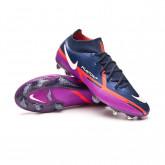 Zapatos de fútbol Phantom GT2 Elite DF FG College navy-White-Vivid purple-Bright crimso