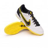 Futsal Boot React Tiempo Legend 9 Pro IC White-Smoke grey-Black-Yellow strike