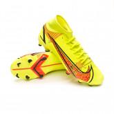 Zapatos de fútbol Mercurial Superfly 8 Academy FG/MG Volt-Bright crimson
