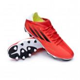 Zapatos de fútbol X SpeedFlow.3 MG Red-Black-Solar red