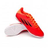 Futsal Boot X SpeedFlow.4 IN Red-Black-Solar red