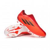 Zapatos de fútbol X SpeedFlow.3 LL FG Niño Red-Black-Solar red