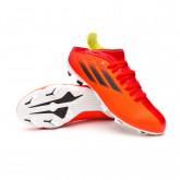 Zapatos de fútbol X SpeedFlow.3 FG Niño Red-Black-Solar red