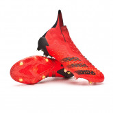 Scarpe Predator Freak + FG Red-Black-Solar red