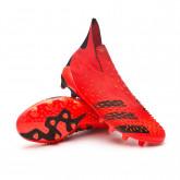 Scarpe Predator Freak + AG Red-Black-Solar red