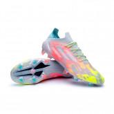 Chaussure de foot X SpeedFlow.1 FG Clear-White-Solar yellow