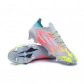 Chaussure de foot X SpeedFlow.1 SG Clear-White-Solar yellow