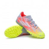 Chaussure de foot X SpeedFlow.3 Turf Niño Clear-White-Solar yellow