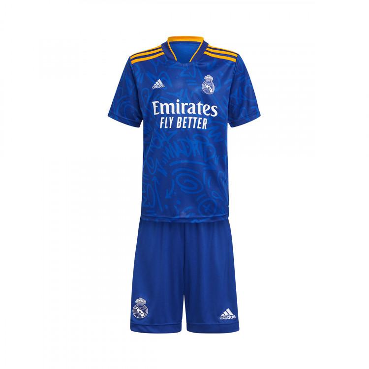 Kit adidas Real Madrid CF Segunda Equipación 2021-2022 Niño ...