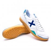 Futsal Boot Gresca White-Blue-Caramel