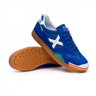 Futsal Boot  Munich Gresca Blue-White-Caramel