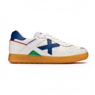 Chaussure de futsal Munich Continental Blanc-Bleu