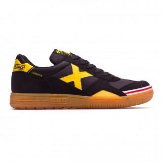 Chaussure de futsal Munich Gresca Noir-Jaune-Caramel