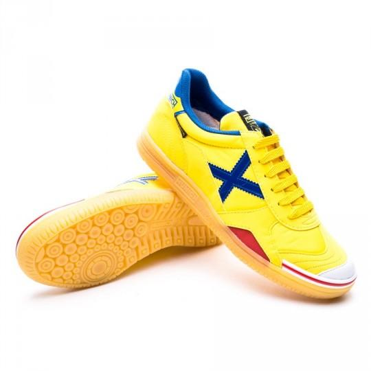 Sapatilha de Futsal  Munich Gresca Amarelo-Azul-Doce