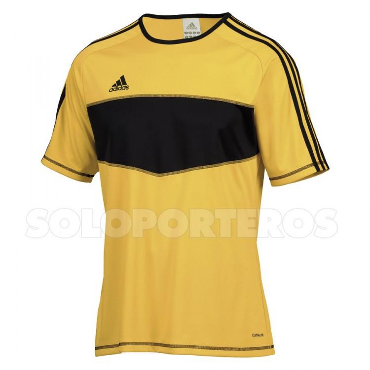 2d95b12cf Playera adidas Entrada Amarilla-Negra - Tienda de fútbol Fútbol Emotion