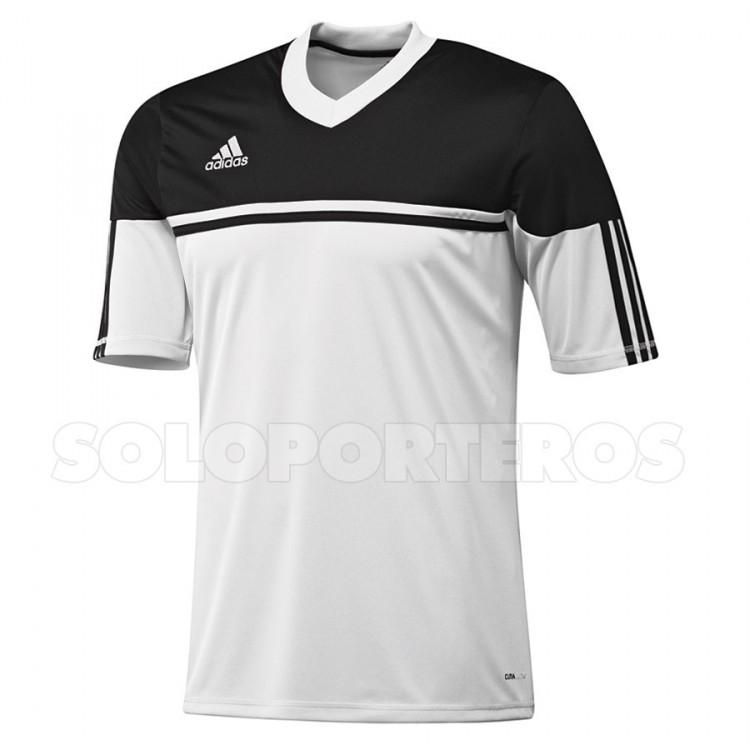 camiseta de futbol negra adidas