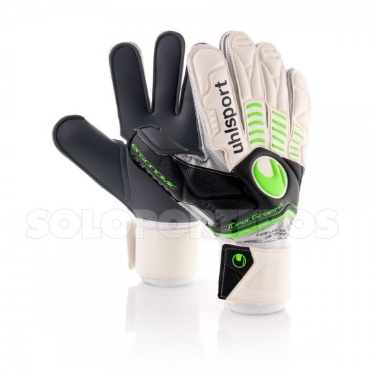 Guante  Uhlsport Ergonomic Super Graphit Blanco-Verde