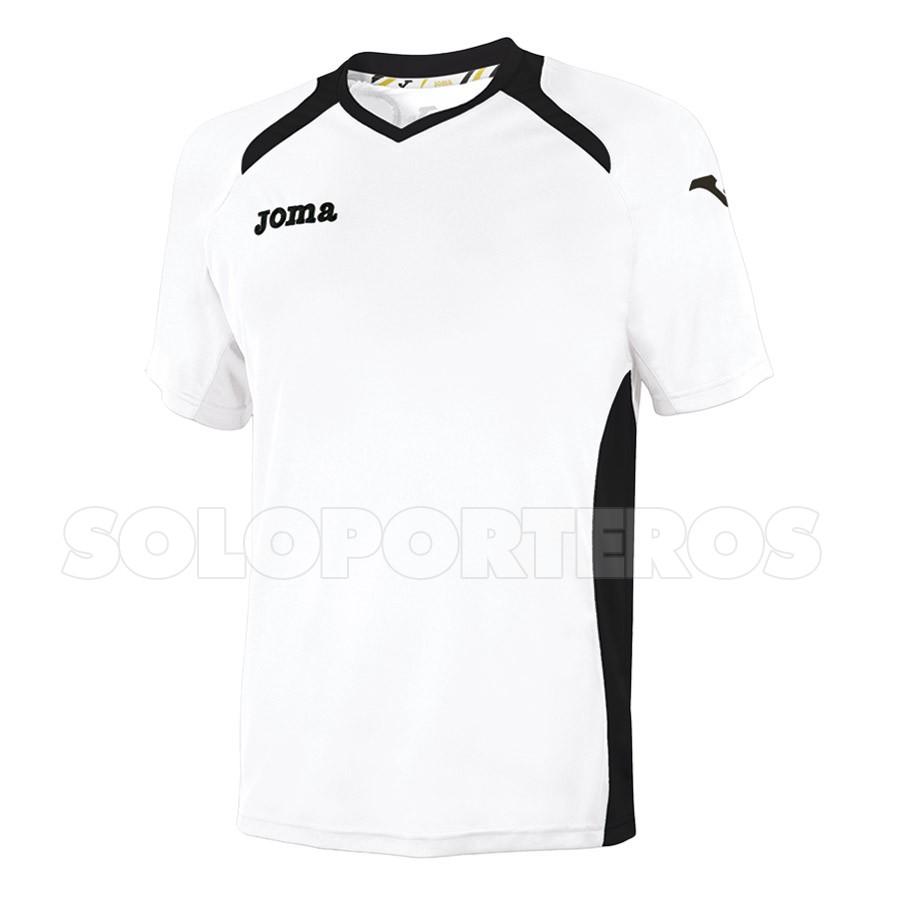 Camiseta Joma Champion II m/c Blanca-Negra - Tienda de Fútbol ...