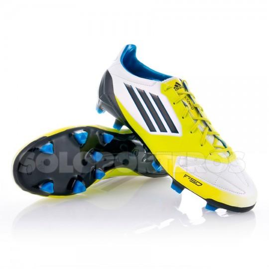 Chaussure de foot adidas F50 Adizero TRX FG Piel Blanc-Lime ...