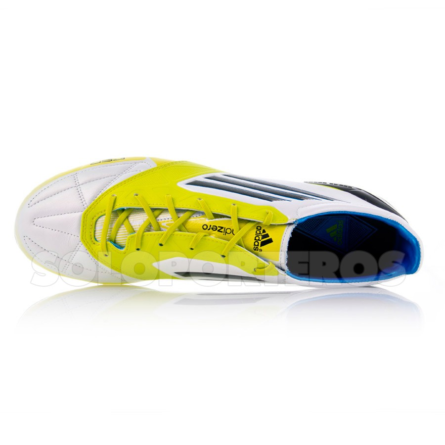 b8f9648428c0 Football Boots adidas F50 Adizero TRX FG Piel White-Lime - Football store  Fútbol Emotion