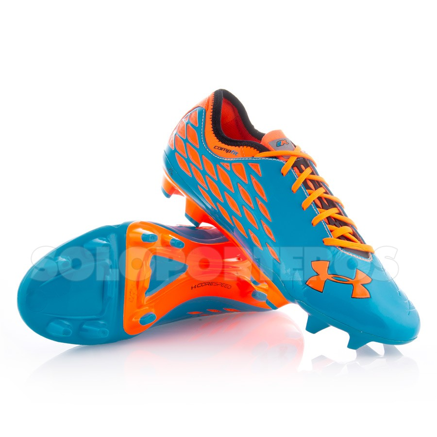 c77da6885b0 Bota de fútbol Under Armour 10K Force Pro II FG Azul-Naranja - Tienda de fútbol  Fútbol Emotion
