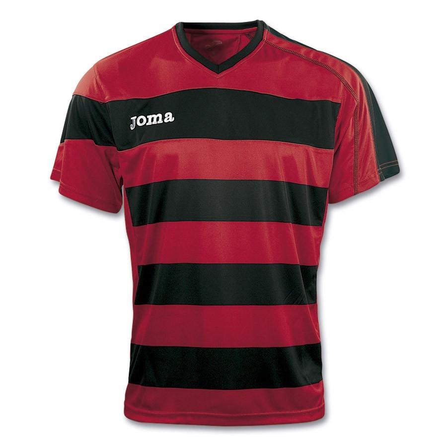 4a1ba85373569 Camiseta Joma Europa Roja-Negra - Tienda de fútbol Fútbol Emotion