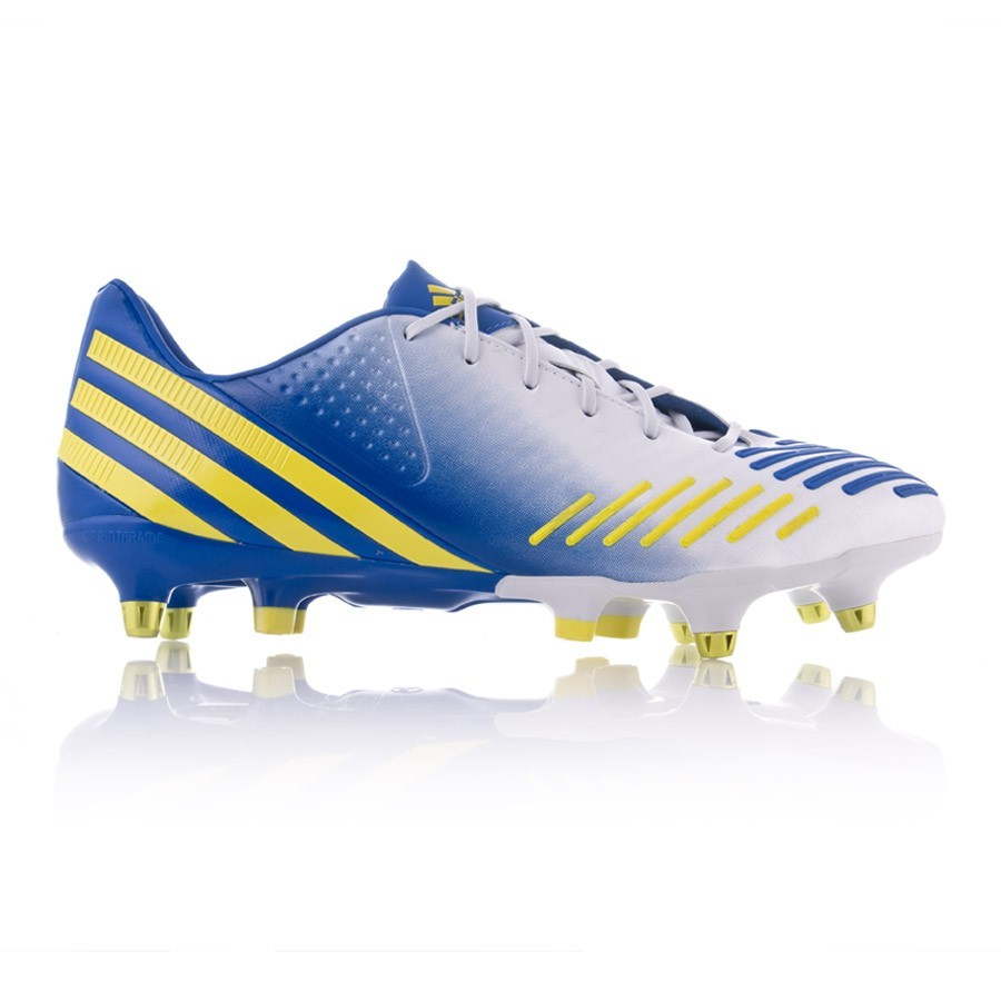 4f7f343c188a Football Boots adidas Predator LZ XTRX SG White-Blue-Yellow - Football  store Fútbol Emotion