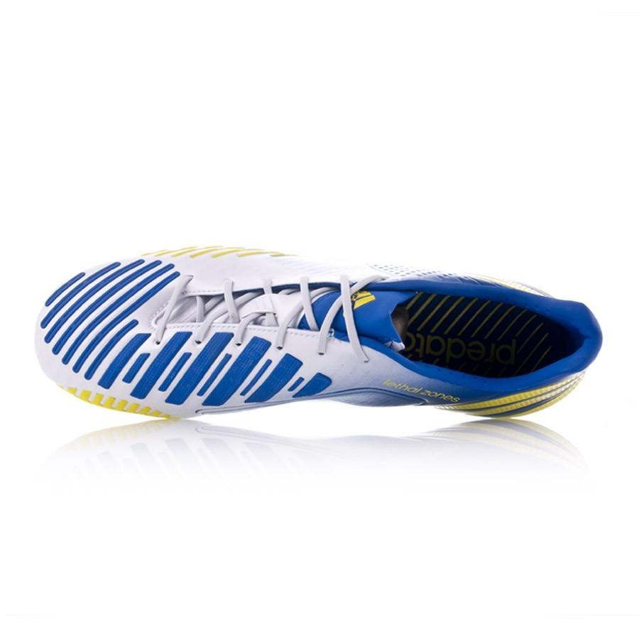 the best attitude ff6d4 ce5c7 ... italy bota de fútbol adidas predator lz xtrx sg blanca azul amarilla  soloporteros es ahora fútbol