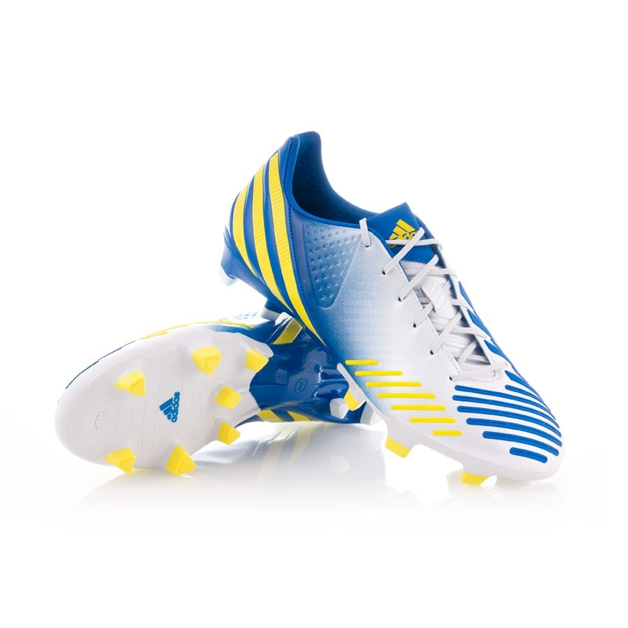 Penélope Precioso Prestado  Football Boots adidas Predator LZ TRX FG White-Blue-Yellow - Football store  Fútbol Emotion